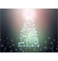 abstract christmass tree vector image