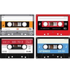 Audio cassette records vector image