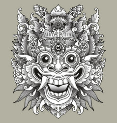 balinese barong traditional mask vector image