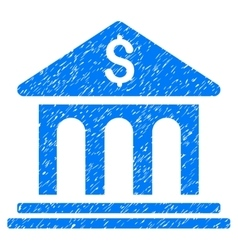 Bank building grainy texture icon vector