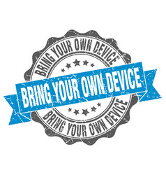 Bring your own device stamp sign seal vector