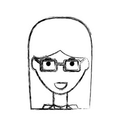 Business woman profile cartoon vector