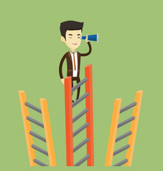 Businessman looking for business opportunities vector