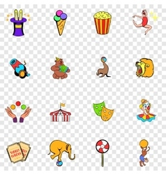 Circus set icons vector
