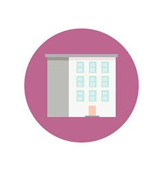 Colorful Flat Design Building icon vector image vector image