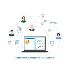 Customer relationship management vector