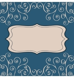Decorative pattern text background vector