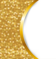 Golden Card With Ribbon vector image