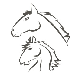 Horses Icons Isolated on White Background vector image
