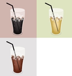 Iced coffee background vector