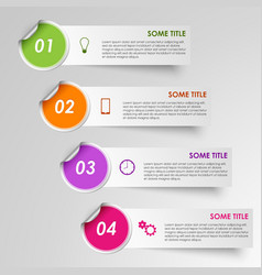 Info graphic progress stickers template vector
