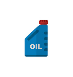 Isolated oil jerrycan flat icon petrol vector