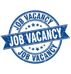 Job vacancy round grunge ribbon stamp vector
