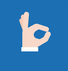 Okay hand sign icon vector