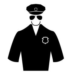 Police black color icon vector