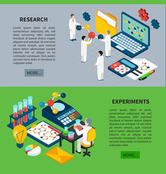 Science banners set vector
