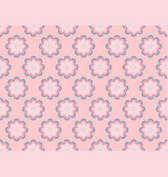 seamless floral pattern flowers with petals vector image