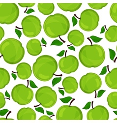 Seamless pattern of apples vector image
