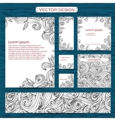 Set of two watercolor zebra business cards on a vector image vector image