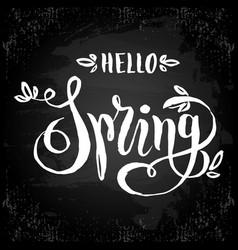 unique handwritten lettering-hello spring drawn vector image vector image
