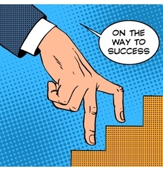 Up the ladder of success business concept vector image vector image