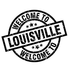 Welcome to louisville black stamp vector
