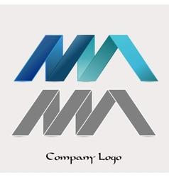Zig zag company logo vector
