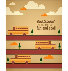 Education with cloudstree and school bus vector