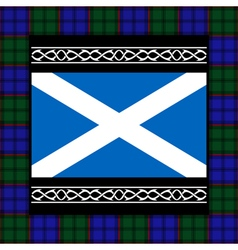 Flag of scotland with tartan vector