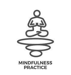 Mindfulness practice thin line icon vector image