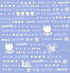 Cute doodles background vector