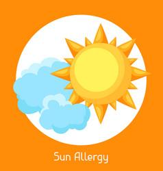 Sun allergy for medical vector