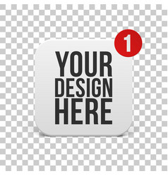 white square icon with round corners template vector image