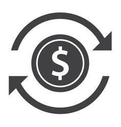 Money transfer icon vector