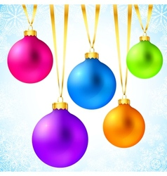 Bright colorful rainbow christmas balls vector
