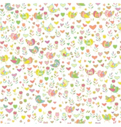 Cute floral pattern vector