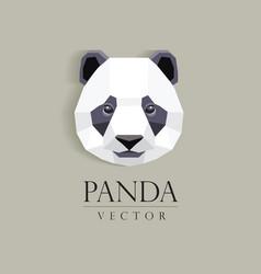 3d origami low polygon panda bear vector image vector image