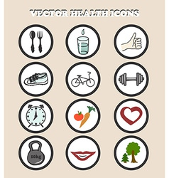Icons health vector