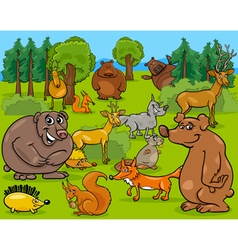 Forest animals cartoon vector