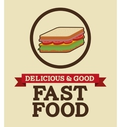 delicious and good foodesign vector image