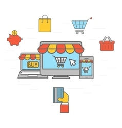 Online shopping communication vector