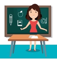 Teacher classroom design vector