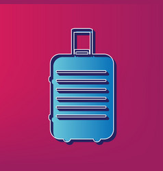 Baggage sign blue 3d printed vector