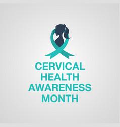 Cervical health awareness month logo vector