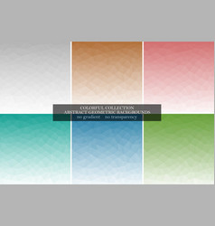 Collection of abstract polygonal geometric vector