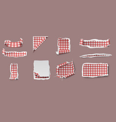Colorful torn and ragged paper set vector