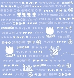 Cute doodles background vector