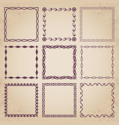 decorative retro frames vector image vector image