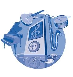 digital player vector image