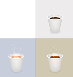 Disposable coffee cups vector